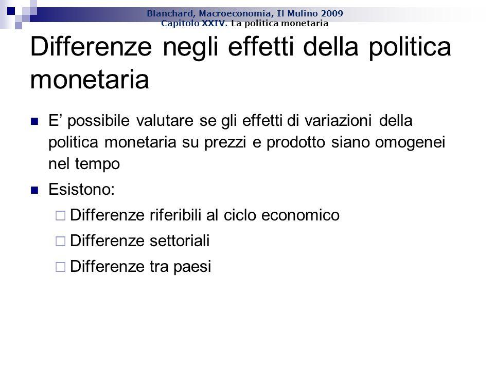 Differenze negli effetti della politica monetaria