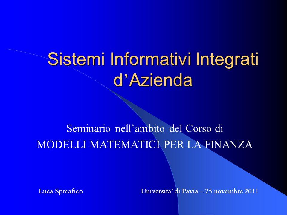 Sistemi Informativi Integrati d'Azienda