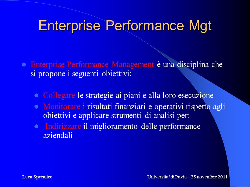 Enterprise Performance Mgt