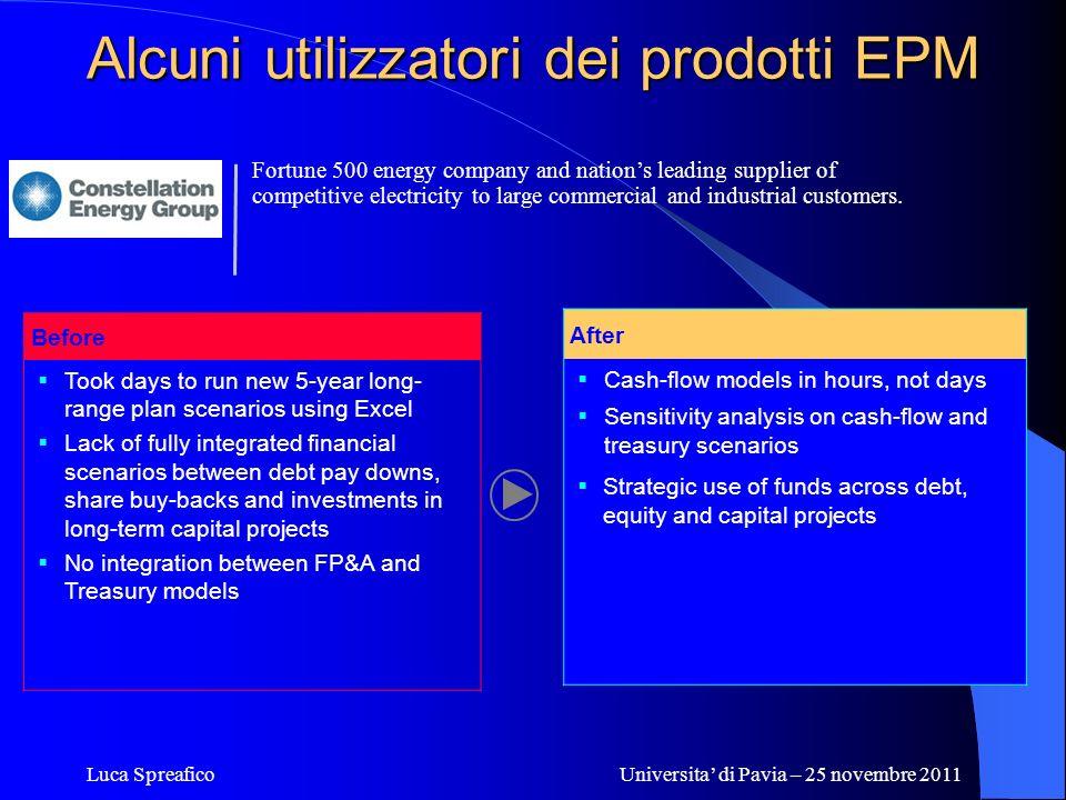 Alcuni utilizzatori dei prodotti EPM