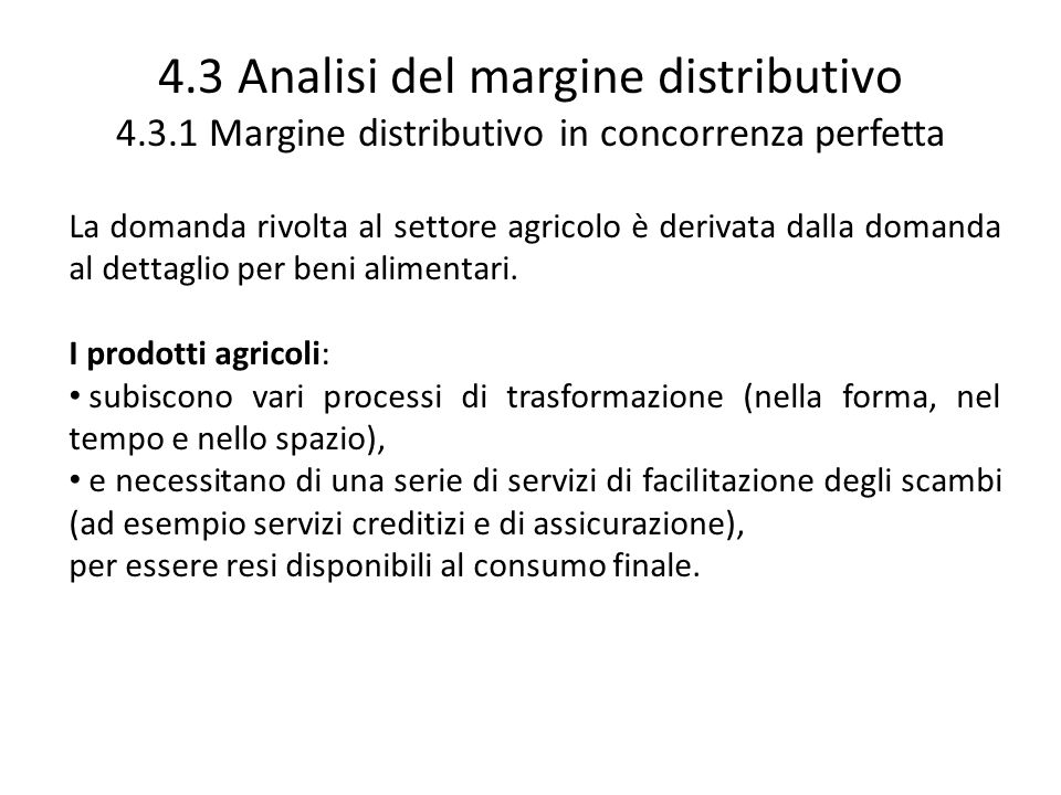 4. 3 Analisi del margine distributivo 4. 3