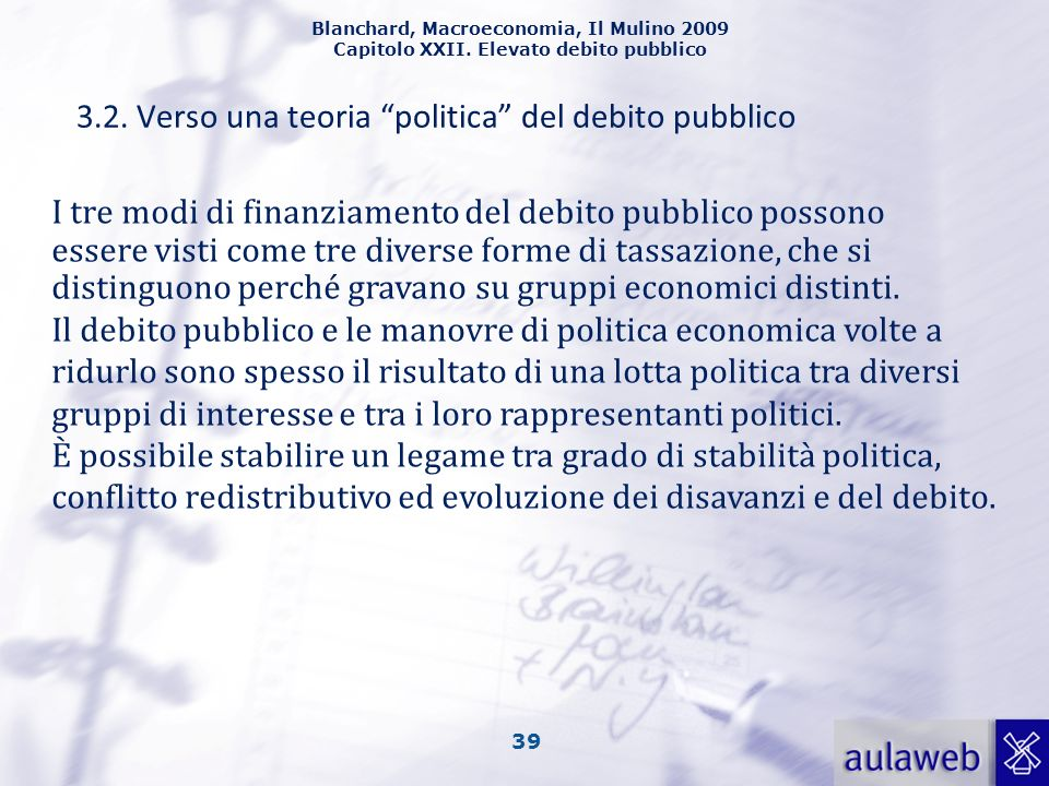 3.2. Verso una teoria politica del debito pubblico