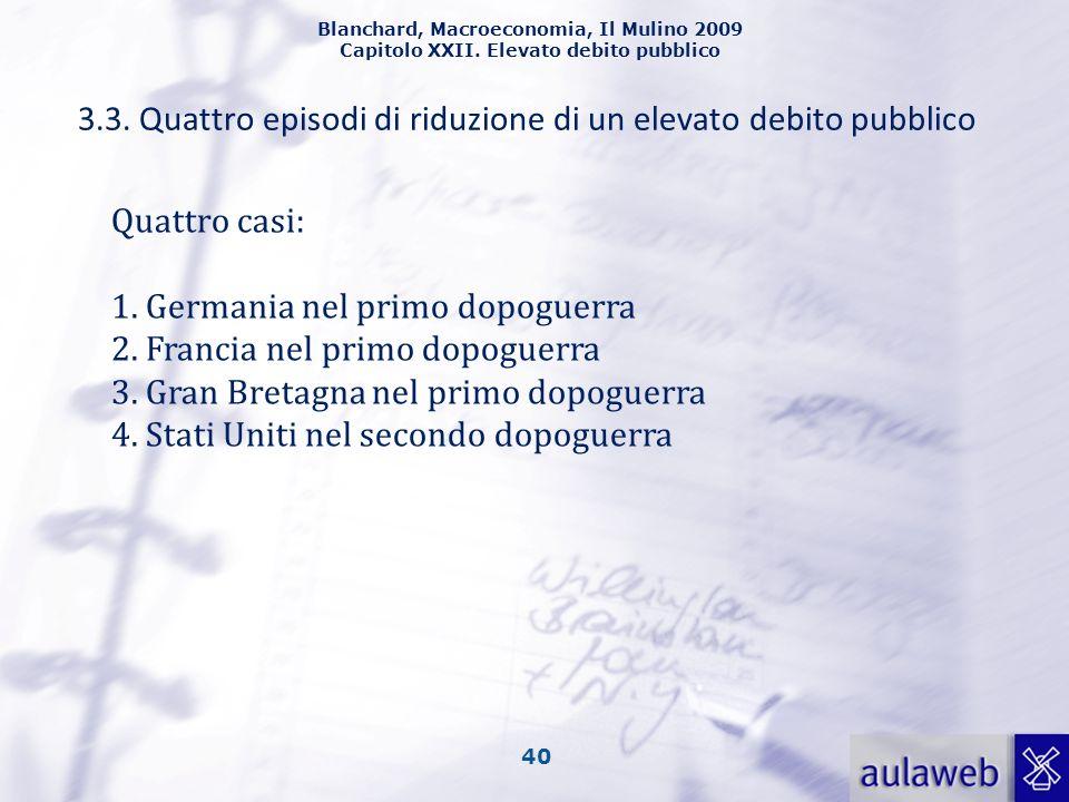 3.3. Quattro episodi di riduzione di un elevato debito pubblico