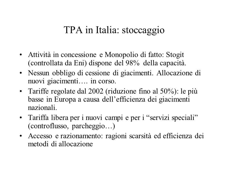 TPA in Italia: stoccaggio
