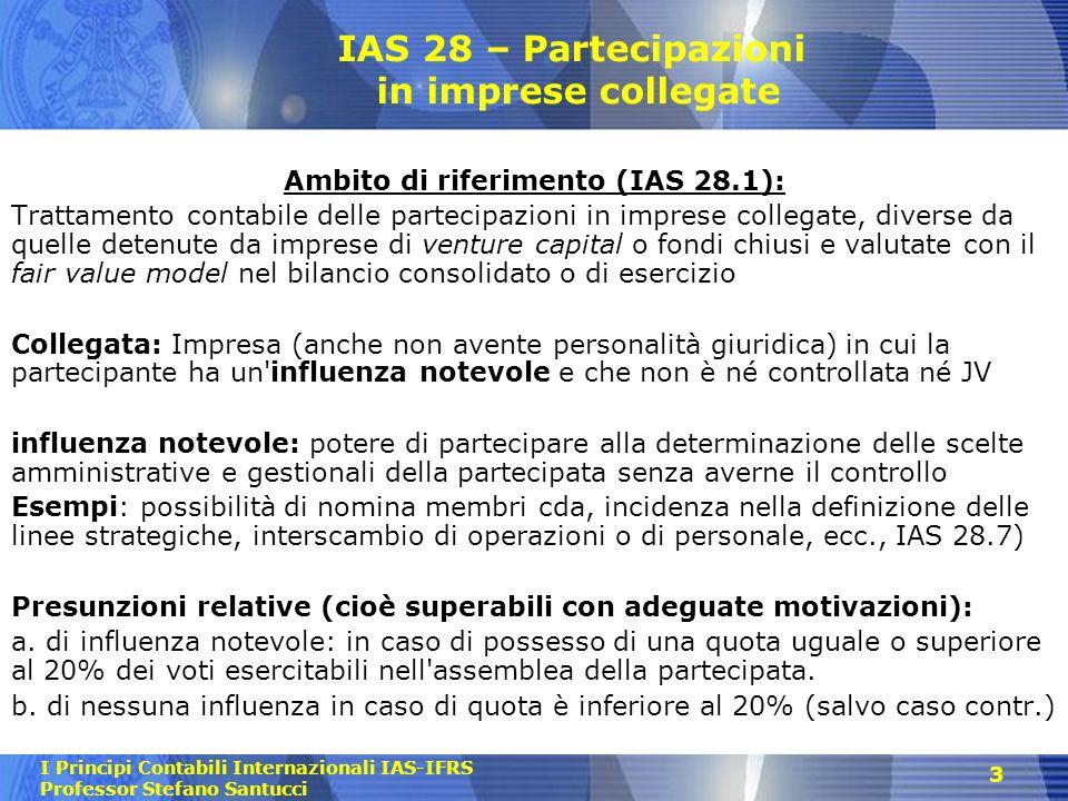 IAS 28 – Partecipazioni in imprese collegate