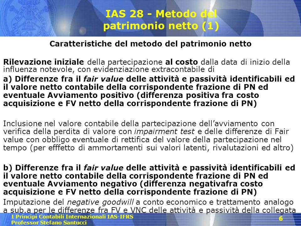 IAS 28 - Metodo del patrimonio netto (1)