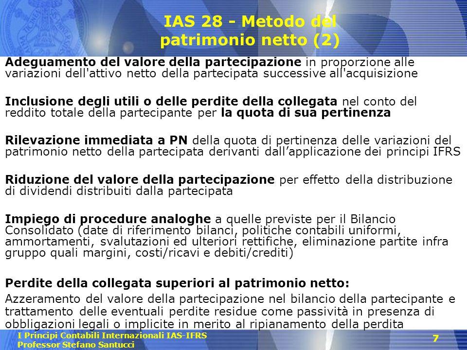 IAS 28 - Metodo del patrimonio netto (2)