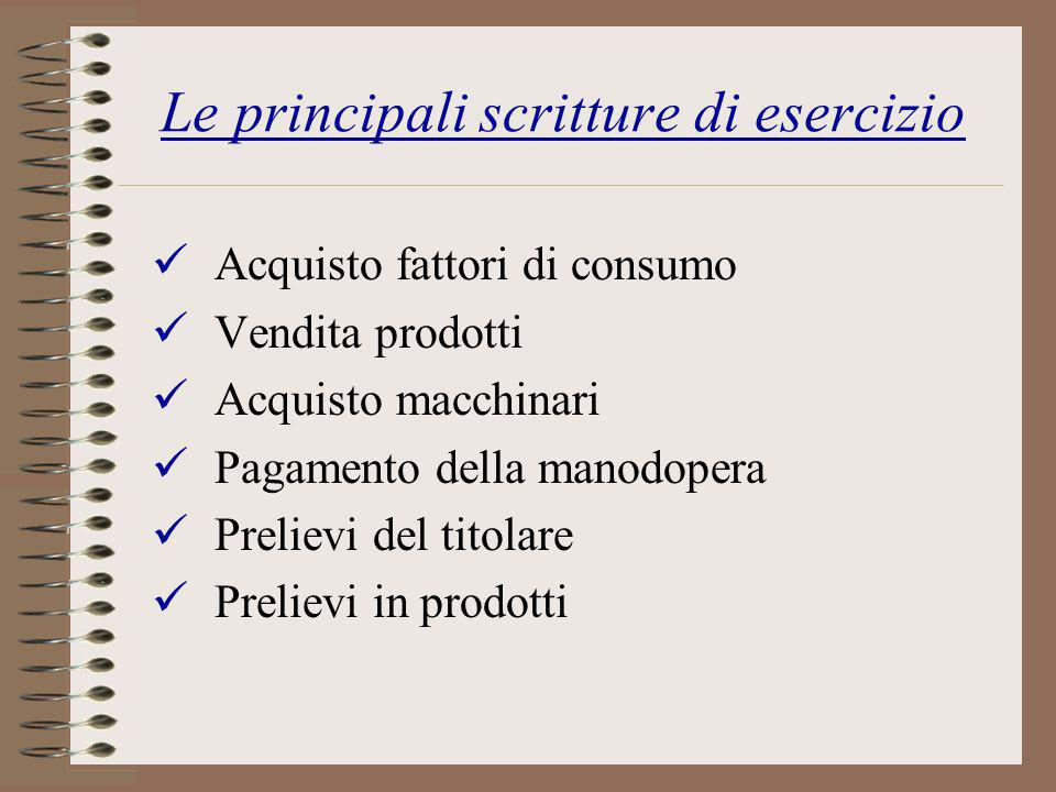 Le principali scritture di esercizio