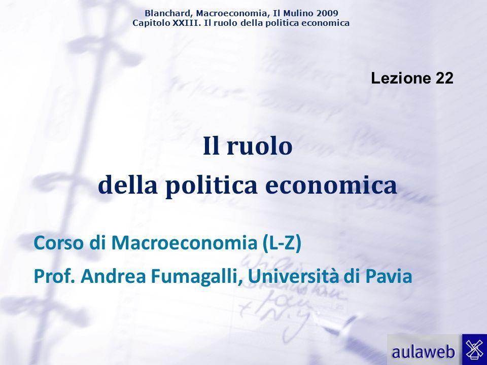 Il ruolo della politica economica