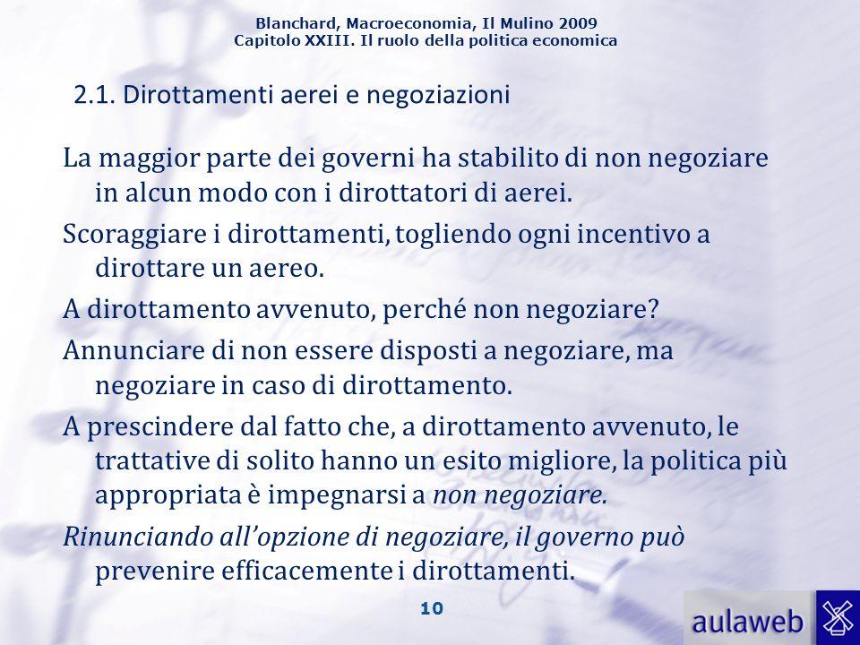 2.1. Dirottamenti aerei e negoziazioni