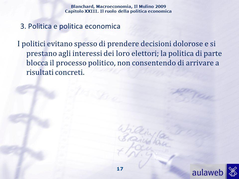 3. Politica e politica economica