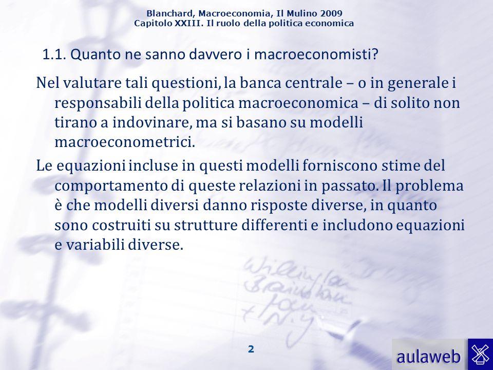 1.1. Quanto ne sanno davvero i macroeconomisti