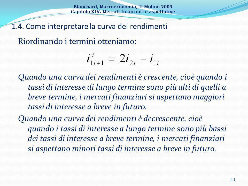1.4. Come interpretare la curva dei rendimenti