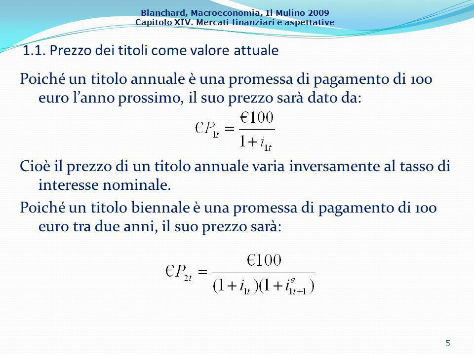 1.1. Prezzo dei titoli come valore attuale