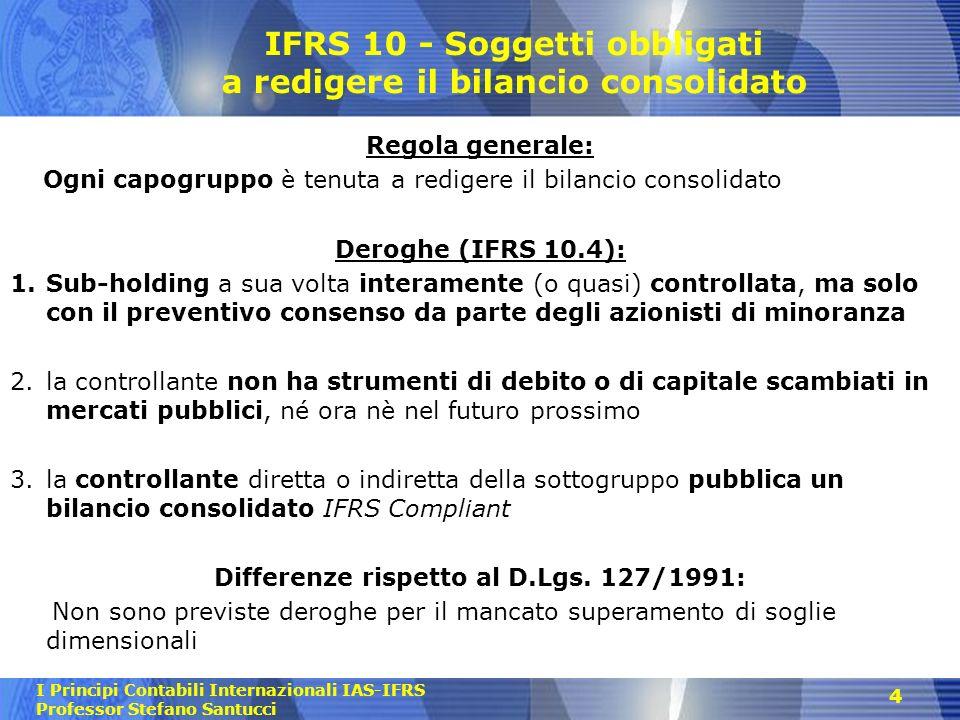 IFRS 10 - Soggetti obbligati a redigere il bilancio consolidato