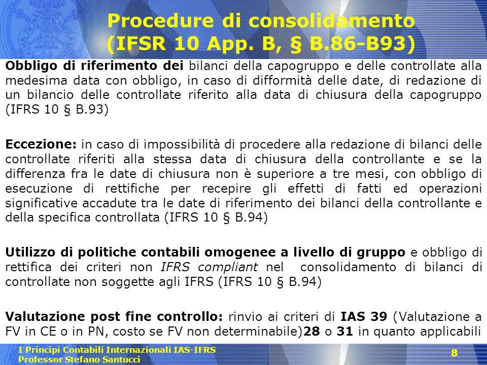 Procedure di consolidamento (IFSR 10 App. B, § B.86-B93)