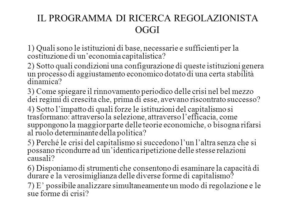 IL PROGRAMMA DI RICERCA REGOLAZIONISTA OGGI