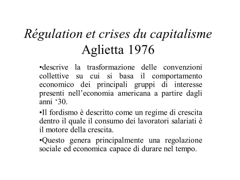 Régulation et crises du capitalisme Aglietta 1976