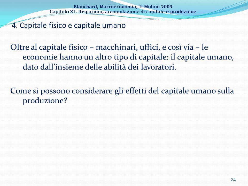 4. Capitale fisico e capitale umano