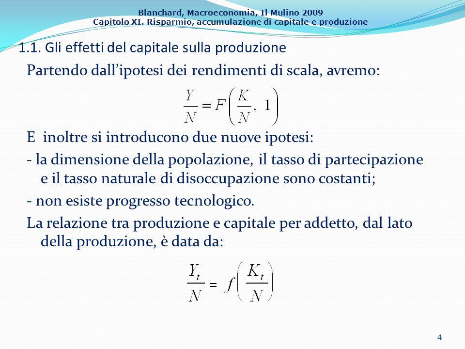 1.1. Gli effetti del capitale sulla produzione