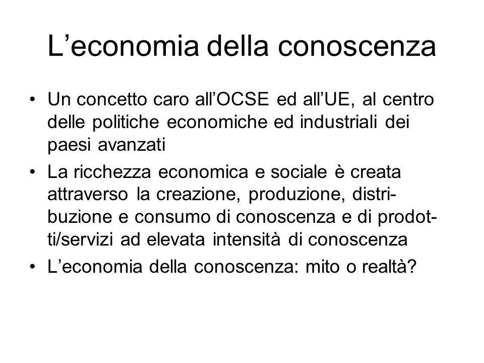 L'economia della conoscenza