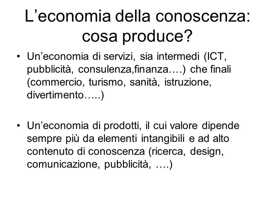L'economia della conoscenza: cosa produce