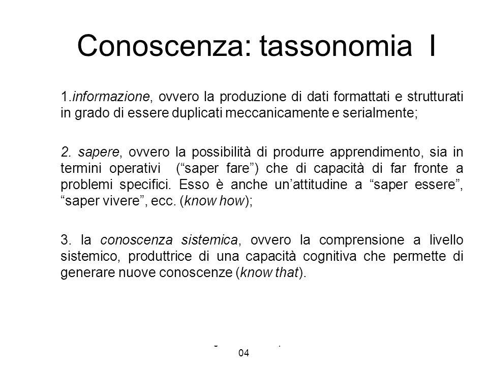 Conoscenza: tassonomia I