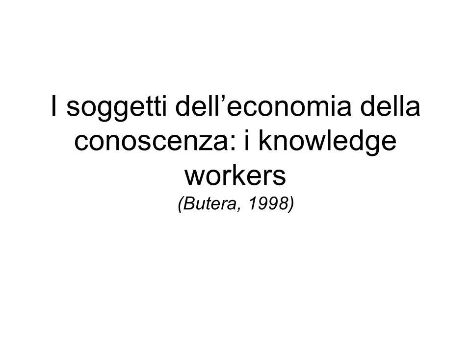 I soggetti dell'economia della conoscenza: i knowledge workers (Butera, 1998)