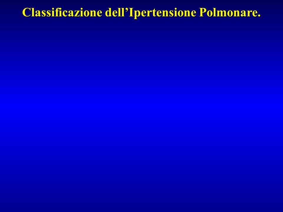 Classificazione dell'Ipertensione Polmonare.