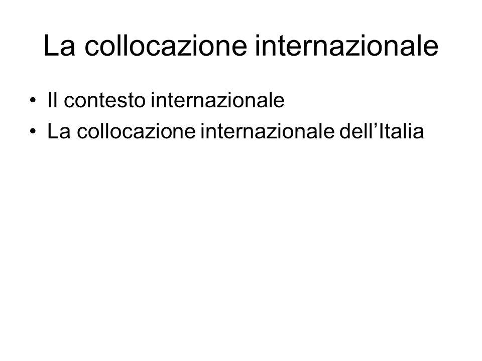 La collocazione internazionale