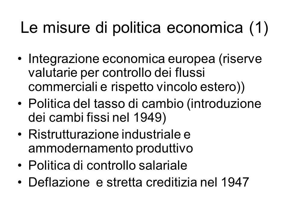 Le misure di politica economica (1)