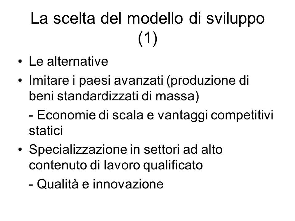 La scelta del modello di sviluppo (1)
