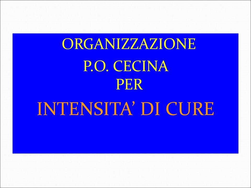 ORGANIZZAZIONE P.O. CECINA PER INTENSITA' DI CURE 3 3