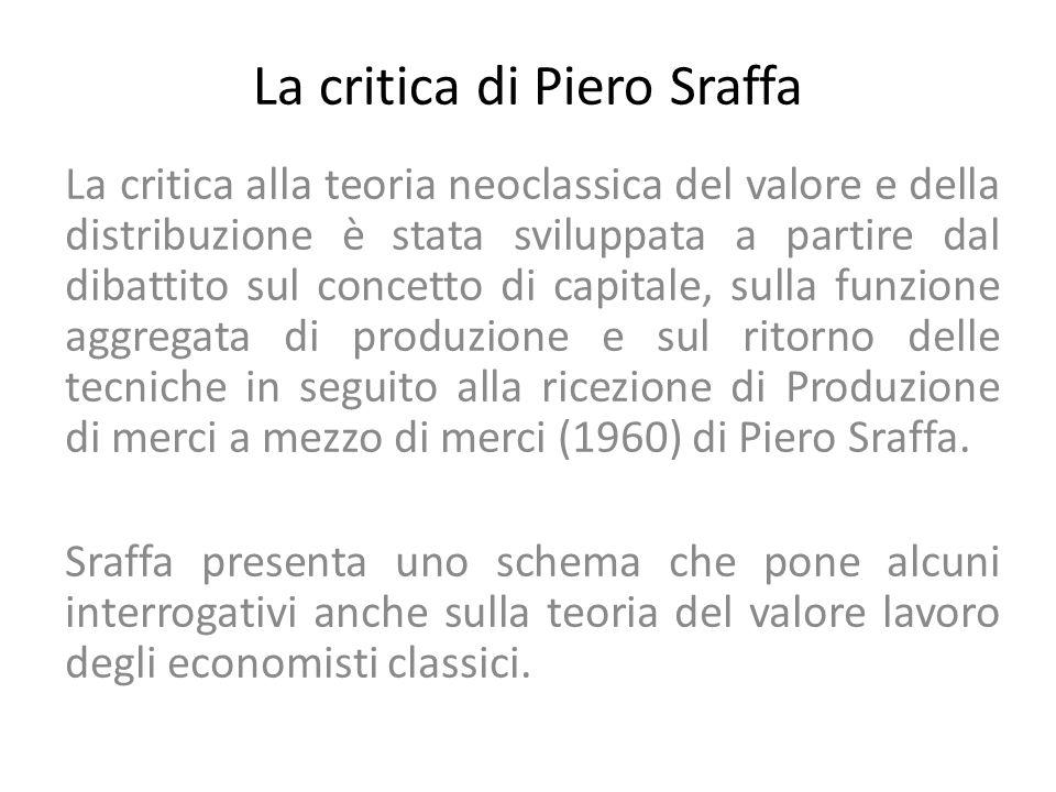 La critica di Piero Sraffa