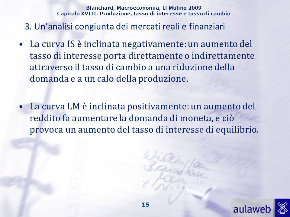 3. Un'analisi congiunta dei mercati reali e finanziari