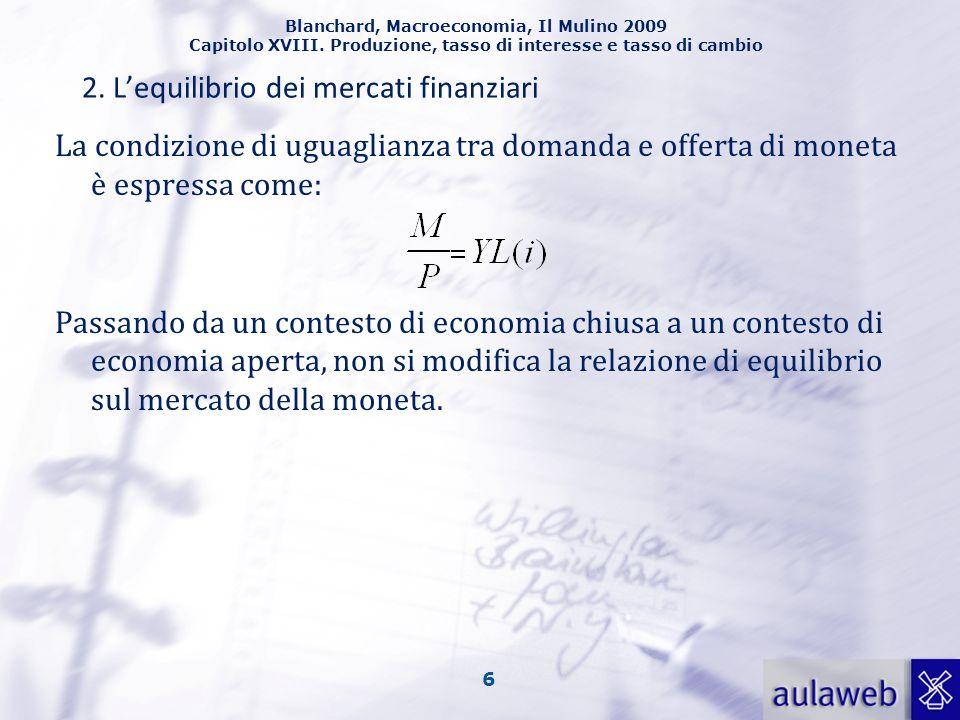 2. L'equilibrio dei mercati finanziari