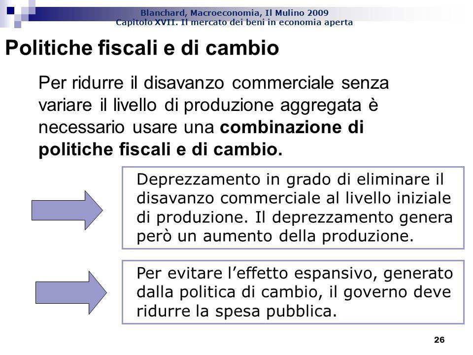 Politiche fiscali e di cambio