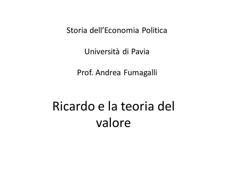 Ricardo e la teoria del valore