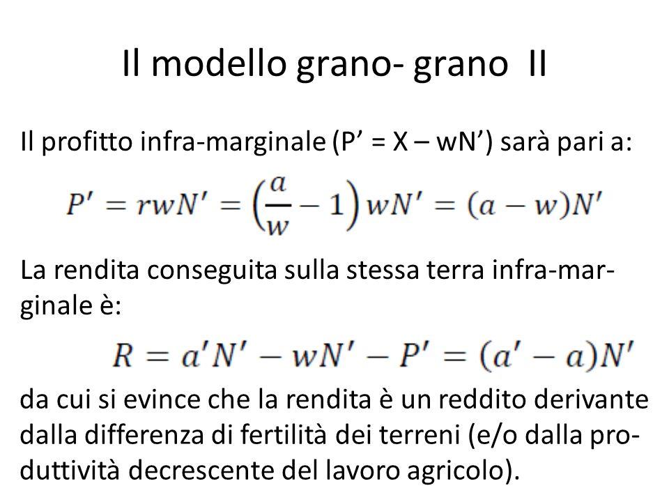 Il modello grano- grano II
