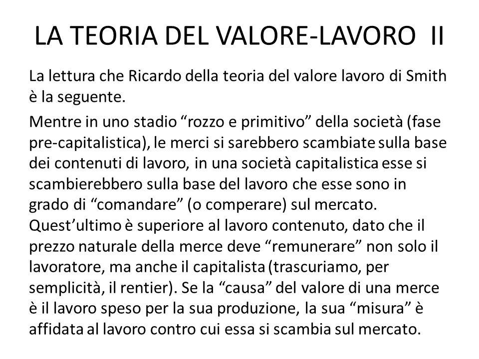 LA TEORIA DEL VALORE-LAVORO II