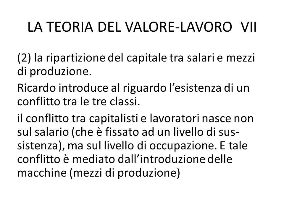 LA TEORIA DEL VALORE-LAVORO VII