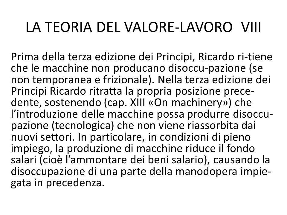 LA TEORIA DEL VALORE-LAVORO VIII