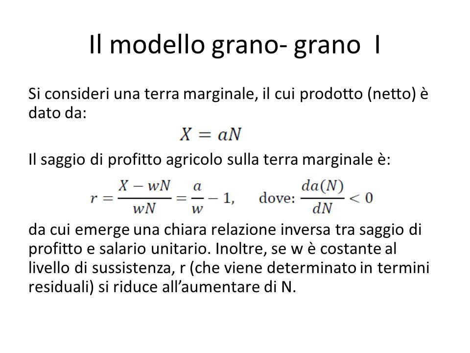 Il modello grano- grano I