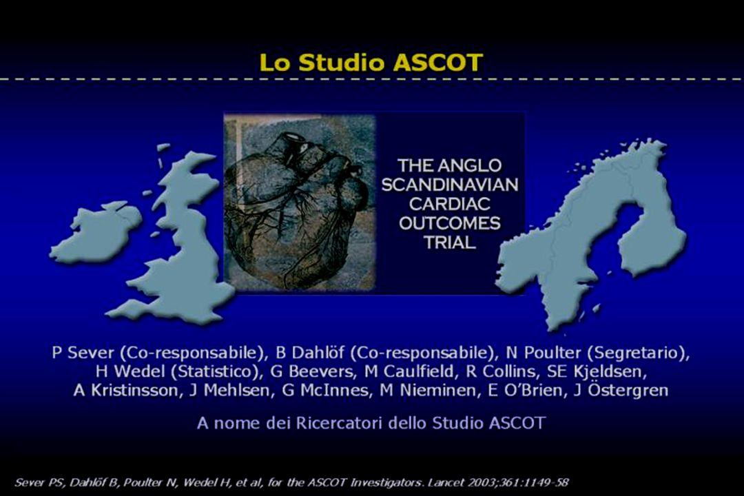 .in contrasto con lo studio ALLHAT risultati nettamente diversi sono stati riscontrati nello studio ASCOT dove paziente ipertesi venivano randomizzati a due diverse trattamenti antiipertensivi
