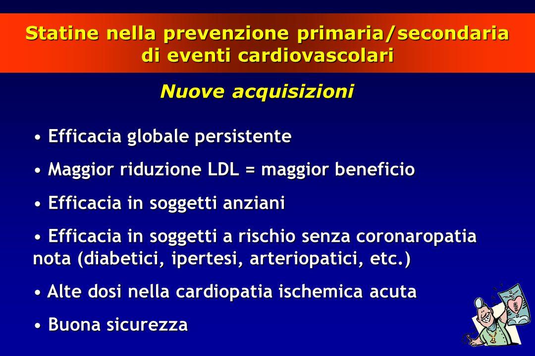 Statine nella prevenzione primaria/secondaria di eventi cardiovascolari
