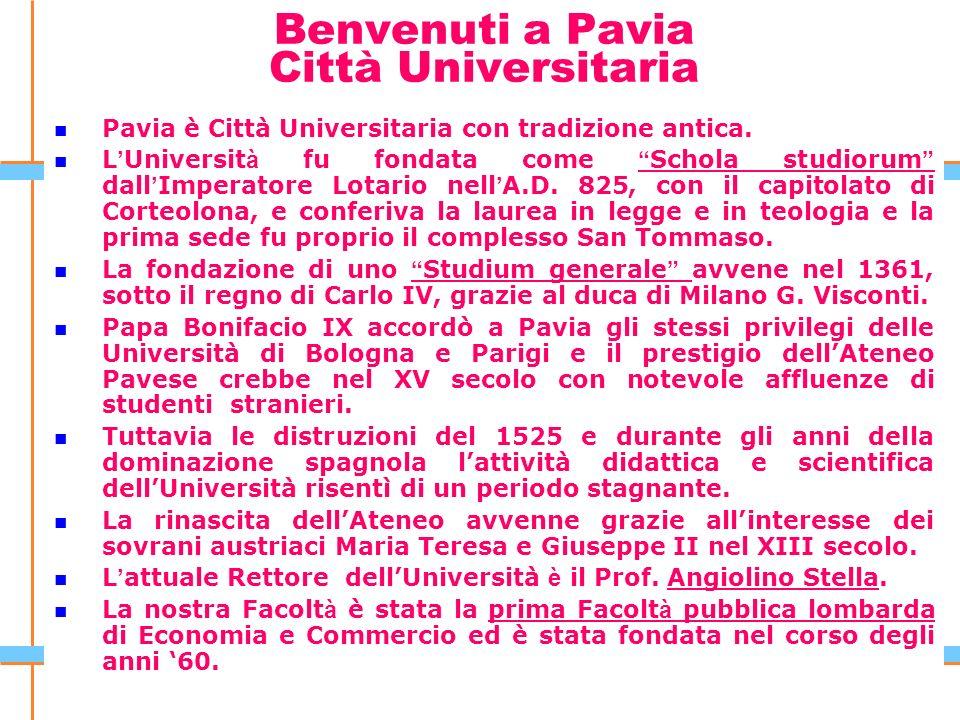 Benvenuti a Pavia Città Universitaria