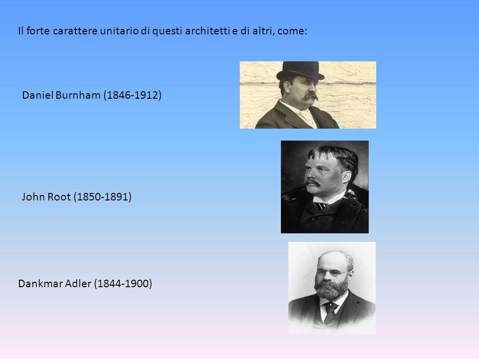 Il forte carattere unitario di questi architetti e di altri, come:
