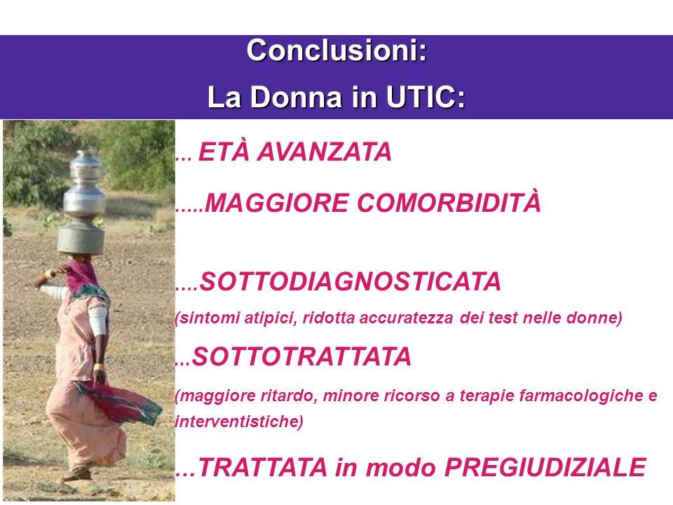 Conclusioni: La Donna in UTIC:
