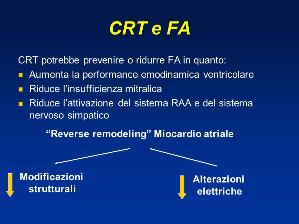 Reverse remodeling Miocardio atriale