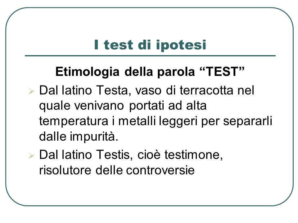 Etimologia della parola TEST
